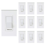 [10 Pack] Cloudy Bay 3-way/single Pole Dimmer Electrical Light Switch For 150w