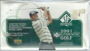 2001 Upper Deck Sp Authentic Golf Sealed Hobby Box