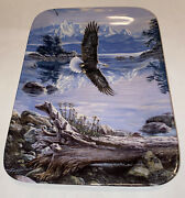 Bradford Exchange As The Eagle Soars Dawnand039s Call Decorative 8.5x6 Plate 10371a