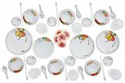Melamine Dinnerware Set Fo24 Pcscamping Dishes With Dinner And Salad Plates,cup