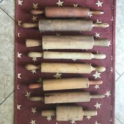 Antique And Vintage Mix Lot Of 8 Wood Rolling Pins