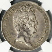 1830-w Ngc Vf 35 France Silver 5 Francs Missing I Incuse Silver Coin 21082103c