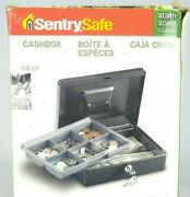 Sentrysafe Metal Cash Box With Removable Money Tray Key Included