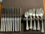 Eighteenth Century By Reed And Barton Sterling Silver Flatware Set 51 Pieces