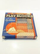 Vintage Mib Halsam Wood Architectural Play Blocks Set Expandable New Old Stock