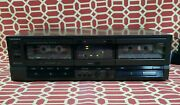 Technics Rs-tr157 Double Cassette Deck High Speed Dual Dubbing Tested And Works