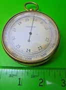 Antique Old Vintage Goliath 2 3/4 Dia Balloonists Mountaineers Pocket Barometer