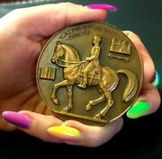 French Military Riding Academy One Of The Big Four,equestrian Art Deco Medal