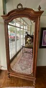 1880and039s Antique French Wardrobe W/ Gold Leaf Accents