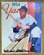 Ny Yankees 1954 Yearbook - Autographed By Ny Yankees And Cincinnati Reds Players