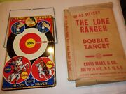 1939 Marx The Lone Ranger Double Target 11 X 17 With Original Box And Stand