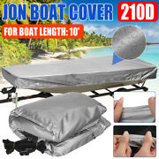 210d Silver Waterproof Sun Protection For Jon Boat Length 10and039 Cover Heavy Duty