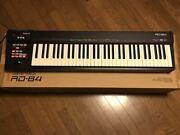Roland Rd-64 Digital Piano Synthesizer Keyboard Used Tested Working Vintage