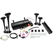 Train Horn Kit For Truck/car/pickup Loud System /1g Air Tank /150psi /4 Trumpets