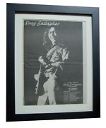 Rory Gallagher+photo Finish+poster+ad+rare Original 1978+framed+fast+global Ship