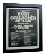Rory Gallagher+tour+rare Original 1974 Poster Ad+quality Framed+fast+global Ship