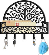 Mail And Key Holder For Wall - Wall Mounted Decorative Mail And Key Rack Organizer