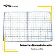 Tito 100 Titanium Barbecue Grilling Basket Grill Bbq Net Steak Meat Fish Holder
