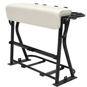 Boat Leaning Post Seat | 39 1/2 X 32 1/8 Inch White Black