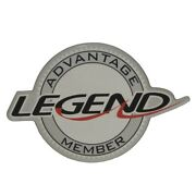 Legend Bass Boat Raised Decal 316251   Advantage Member Series Silver