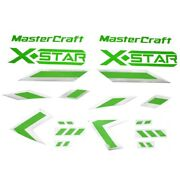 Mastercraft Boat Raised Decals 750171 | X Star Lime Green 18 Pc Kit