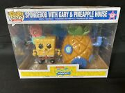 Spongebob With Gary And Pineapple House Funko Pop Town 02 New Open Box