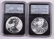 2013-w American Silver Eagle Set - Ngc 70/70 Two Coin Set