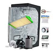 Grow Tent Kit Complete Package New Tech Apq300 Led Grow Light 32x32x63kit