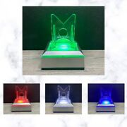 Led Light Base Box Sports Card Durable Adjustable Display Stand Holder See Pics