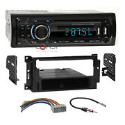 Concept Usb Mp3 Bluetooth Stereo Dash Kit Harness For 2004+ Chrysler Dodge Jeep