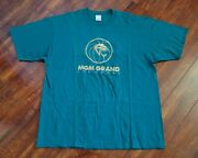 Vintage 1993 Mgm Grand Las Vegas Hotel Embroidered Size Xl Turquoise T-shirt