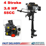 New 4 Stroke 3.6hp Heavy Duty Outboard Motor Boat Engine W/air Cooling System Us