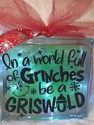 In A World Of Be A Griswold Christmas Decorative Glass Block Light- Lamp