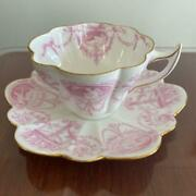 Wileman Foley China Shelley Cup And Saucer Teacup Pink Antique Rare