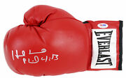 Evander Holyfield Signed Red Everlast Boxing Glove Auto Graded 10 Psa 5a22419
