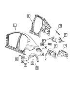 Genuine Mopar Body Side Aperture Outer Panel Right 68080954aa