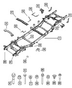 Genuine Mopar Chassis Frame Assembly 68320889aa