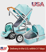 New Luxury Baby Stroller 3 In 1 Portable Travel Carriage Folding- Usa Shipping