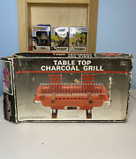 Vintage Table Top Charcoal Grill S103a New