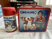 Vtg Gremlins Metal Lunch Box With Thermos High Grade C 7