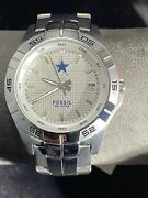 Fossil Dallas Cowboys Nfl Stainless Steel Watch Mens. Nfl-1047 861010 Never Worn