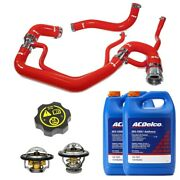 Ppe Red Radiator Hoses/thermostats/gm Coolant And Cap For 07-10 6.6l Duramax Lmm