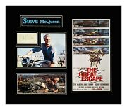 Steve Mcqueen Autograph- Double Matted And Museum Framed Ready To Hang