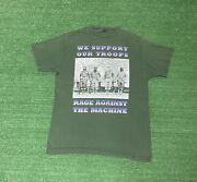 Vintage Rage Against The Machine We Support Our Troops Shirt Size L/xl