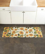 Sunflower Spring Floral Kitchen Runner Rug Mat Country Rustic Summer Home Decor