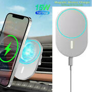 15w Mag Safe Car Vent Mount Magnetic Wireless Charger For Iphone 12 Pro Max Mini
