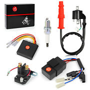 Ignition Coil Cdi Relay Regulator And Spark Plug For Polaris Sportsman 500 1996-01