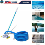 Swimming Pool Pond Fountain Vacuum Brush Cleaner Cleaning Tool Kit W/pole+hose