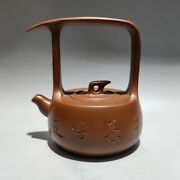 Chinese Yixing Zisha Clay High Handl Teapot Antiques Ethnic Cultural Collectible