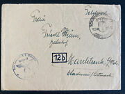 1944 Germany Kz France Natzweiler Concentration Camp Ss Guard Cover W Letter